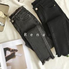 Obral Musim Semi Dan Musim Panas Tipe Standar Jeans Elastis Stoking Celana Abu Abu Gelap Baju Wanita Celana Wanita Celana Jeans Wanita Murah