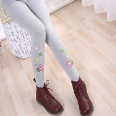 Musim Semi Hitam Dan Musim Gugur Pinggang Tinggi Legging Celana Panjang Gadis Legging (Chanel Cinta Abu-abu)