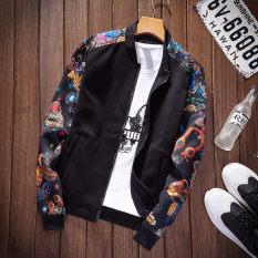 Toko Kebugaran Korea Fashion Style Musim Semi Pria Kerah Kerah Kerah Jaket H28 Bagian Tipis Hitam Online Di Tiongkok