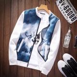 Jual Kebugaran Korea Fashion Style Musim Semi Pria Kerah Kerah Kerah Jaket H33 Putih Warna Tiongkok