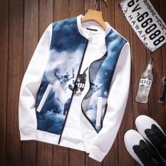 Kebugaran Korea Fashion Style Musim Semi Pria Kerah Kerah Kerah Jaket H33 Putih Warna Oem Diskon