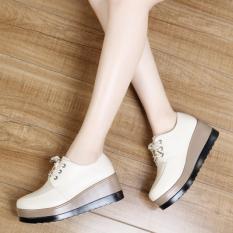 Toko Sepatu Wanita Wedges Tinggi Sedang Warna Beras Warna Beras Murah Di Tiongkok