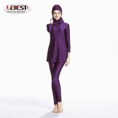Muslim Dewasa Renang Setelan Cetak Pola Turkish Islam Baju Renang Jilbab-Internasional