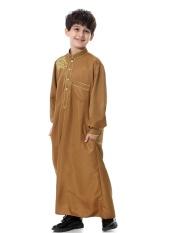 Muslim Boy Jubah Pakaian Anak-anak Muslimin Boy Jubahs untuk Wanita Muslim (CAMEL)-Intl