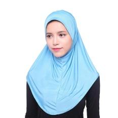 Muslim Hijab Scarf Ice Silk Arabian Women Full Cover Inner Cap Islamic Head Wear Hat Underscarf - intl