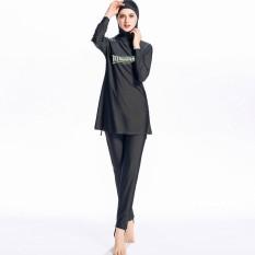 Muslim Jilbab Swimsuit Islam Gaya Panjang Penuh Swimwear Beachwear Burkini Burqini-Intl