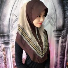Muslim Jilbab Dicetak Dua Lapisan Chiffon Nyaman Lindung Nilai 14-Intl