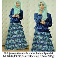 MUSLIM /  Maxi Dress Jersey Bunga Hana Baju Gamis Flower [SALE]