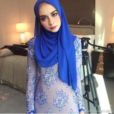 Kerudung Muslim Melayu Sederhana Handuk Panjang 2017 New Pure Pearl ChiffonChiffon Tipis Fashion-Intl