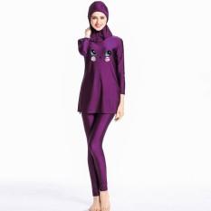 Muslim Swimwear untuk Wanita Wanita Hijab Sederhana Burkini Swimsuits-Intl