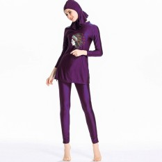 Muslim Swimwear for Women Girls Modest Islamic Hijab Burkini Swimsuits With Hijab