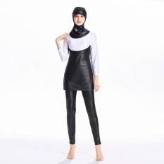Muslim Swimwear Wanita Sederhana Swimsuit Beachwear Islam Kostum Renang untuk Anak Perempuan dengan Jilbab-Intl