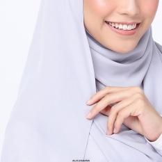 Muslim Sorban Bergaya Masker Dalam Bahasa Melayu) Pearl Chiffon Pure Color Long Handuk Huizu Islam Cover End CLAMP, Ungu Muda-Internasional