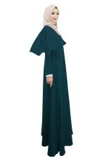Muslim Wanita, Ukuran Besar Dress, Melayu Dress (Hijau)-Intl