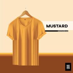 Beli Mustard Lengan Pendek Kaos I Baju Polos Katun Bambu Cotton Bamboo 30S Pria I Wanita V Neck Multi Online
