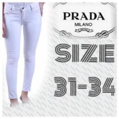 Jual Mustika Jeans Celana Putih Cewek Jumbo Fashion