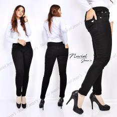 Toko Muthia Celana Jeans Wanita Premium Quality Celana Jenas Skinny Hm004 Black Terlengkap