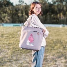 Muzi Tas/Kayu Anak Tas Brocade Asli Kanvas Pembungkus Wanita Daftar Bahu Bahasa Korea Tangan Lift Kanvas tas Tas NYU Jian Yue-Internasional