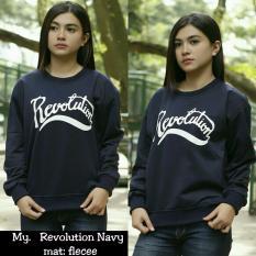 Spesifikasi My Pakaian Wanita Sweater Roundhand Revolution Navy Lengkap Dengan Harga