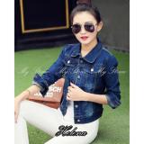 Jual Beli Online My Straw Jaket Jeans Helena Premium Biru Navy