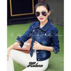 Spesifikasi My Straw Jaket Jeans Helena Premium Biru Navy Merk My Straw
