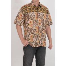 Jual My Straw Kemeja Batik Pria Katun Abstrak Coklat Online Di Indonesia