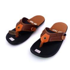 Promo My Trip Sandal Jepit Pria Warna Brown Murah