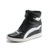 Toko My056 Wanita Lift Breathables Flat Sepatu Taller 3 15 Inci Casual Sneakers Boots Warna Hitam Intl Terdekat