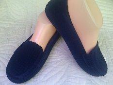 Myanka Jelly Shoes Flat Beludru (Navy Blue)