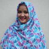 Toko Jual Mysha Hijab Elc Hijab Segi Empat Wolfish Motif Biru