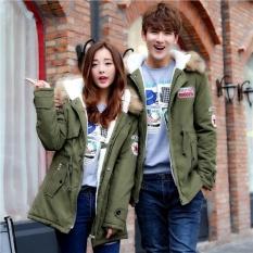 Misteri Musim Dingin Pemuda Lovers Cotton Jaket Bulu Angsa Ukuran Besar Musim Gugur (hijau)-Intl
