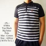 Harga Mz Baju Polo Fashion Model Distro Terbaru Top Black Big Salur Polo 700A Termahal