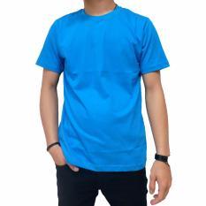 Spesifikasi Naga Clothing Kaos Polos Lengan Pendek Oneck Full Cotton Combed Reaktif Biru Turkis Dan Harganya