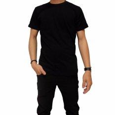 Naga Clothing - Kaos Polos Lengan Pendek ONeck Full Cotton Combed Reaktif - Hitam