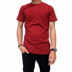 Beli Naga Clothing Kaos Polos Lengan Pendek Oneck Full Cotton Combed Reaktif Merah Marun Kaos Polos Naga Clothing Dengan Harga Terjangkau