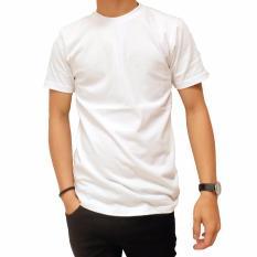 Naga Clothing - Kaos Polos Lengan Pendek ONeck Full Cotton Combed Reaktif - Putih