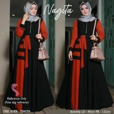 Nagita dress hijab kekinian maxi baju muslim baru murah