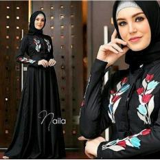 Naila Dress Gamis Wanita Bordir Syar'i