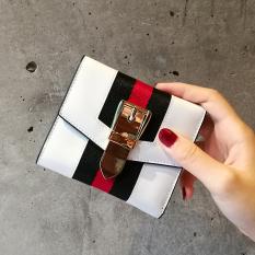 Pusat Jual Beli Nama Besar Kulit Perempuan Ultra Tipis Wanita Kecil Dompet Tri Lipat Wallet Putih Tas Tas Wanita Dompet Wanita Tiongkok