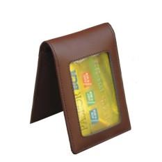 Spesifikasi Name Tag Id Card Holder Kulit Double Magnet Coklat Terbaru