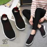 Promo Nana Blanche Alessia Sepatu Sneakers Wanita Sock Shoes Kasual Black Red Jawa Barat