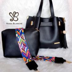Nana Blanche Claribel Tas 2in1 Sandang dan Selempang -  Black
