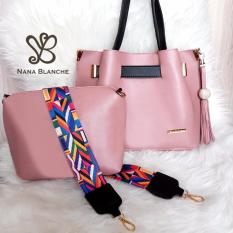 Nana Blanche Claribel Tas 2in1 Sandang dan Selempang -  Pink