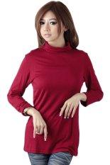 Toko Mangoesteen High Neck Shirt 18321 Merah Terlengkap Dki Jakarta