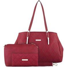 Jual Nana Blanche Jalynda Set Tas Kerja Premium Sandang Besar Tas Selempang Gratis Dompet 0001 Merah Nana Blanche Ori