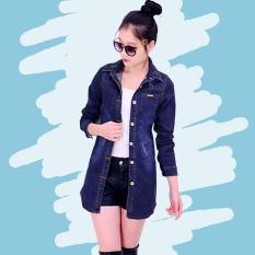 Nana Blanche Jeany Jaket Jeans/Outer Jeans/Kemeja Jeans Lengan Panjang - Blue Jeans