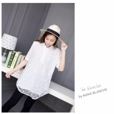 Dimana Beli Nana Blanche Luna Blouse Tunik Bordir Premium Wanita 220 7 White Nana Blanche