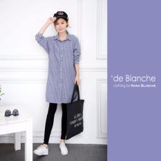 Harga Nana Blanche Meisya Kemeja Tunik Wanita 969 Dark Blue Lengkap