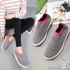 Harga Nana Blanche Sepatu Sneakers Wanita Sock Shoes Kasual Olivia Yang Murah