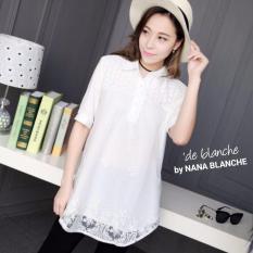 Nana Blanche Sheeva Blouse Tunik Bordir Premium Wanita 220 White Murah